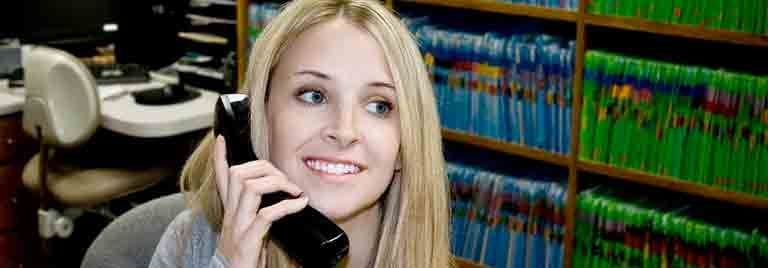 medical office assistant on phone