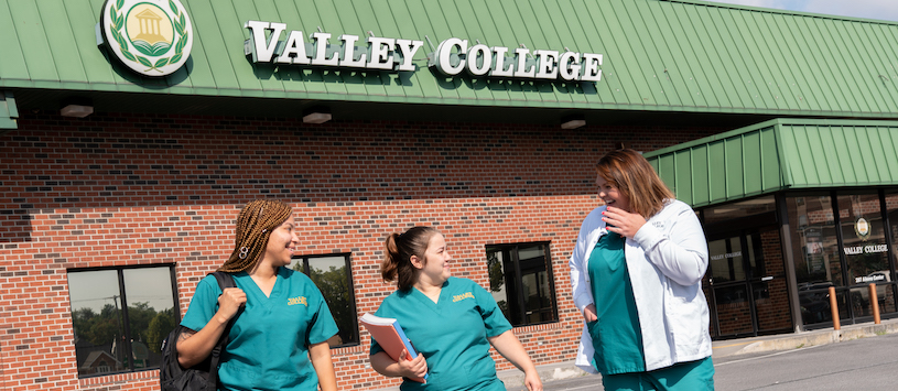 Students leaving Valley College Martinsburg campus.